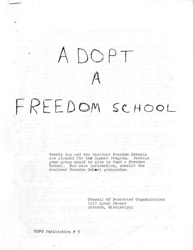 Adopt a Freedom School