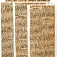 Newspaper headline and clipping on White's published book
