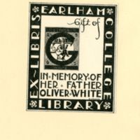 Earlham College Bookplate